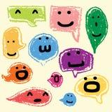 Lyckliga anförandebubblor vektor illustrationer