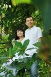 lyckliga asiatiska par Fotografering för Bildbyråer