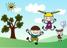 lyckliga barn Royaltyfri Foto