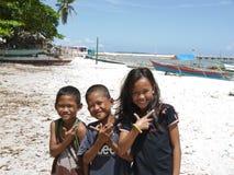 Lyckliga barn, Philippines Arkivfoto