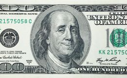 Lyckliga Benjamin Franklin Arkivfoton