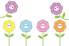 Lyckliga blommor Fotografering för Bildbyråer