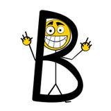 lyckliga bokstäver för alfabet b Arkivbild