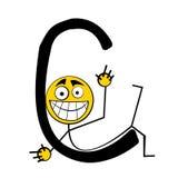 lyckliga bokstäver för alfabet c Arkivfoto