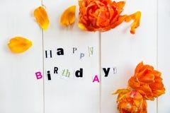 lyckliga bokstäver för födelsedag arkivbilder