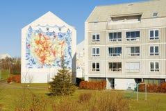 lyckliga byggnader Arkivbilder