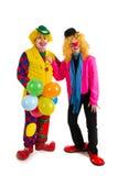lyckliga clowner Royaltyfri Foto