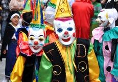 Lyckliga clowner Arkivbilder