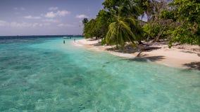 Lyckliga dagar i Maldive Arkivfoto