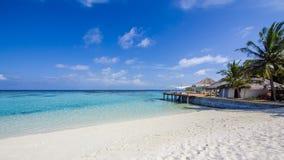 Lyckliga dagar i Maldive Arkivfoton
