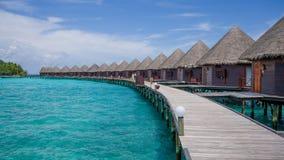 Lyckliga dagar i Maldive Fotografering för Bildbyråer