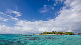 Lyckliga dagar i Maldive Royaltyfri Foto