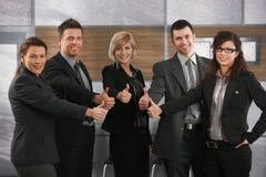 lyckliga deltagare för affär Royaltyfria Bilder