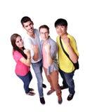 lyckliga deltagare för grupp Arkivbild
