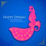 Lyckliga Diwali Diya Arkivbild