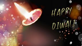 Lyckliga Diwali eller deepawalidiyas eller lampa för beröm i Indien royaltyfri illustrationer