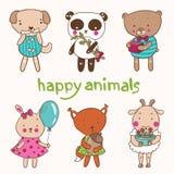 lyckliga djur Arkivfoto