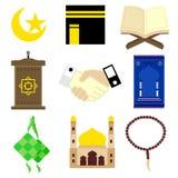 Lyckliga Eid Al Fitr Mubarak 6 stock illustrationer