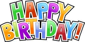 lyckliga födelsedaggrafitti Royaltyfri Fotografi