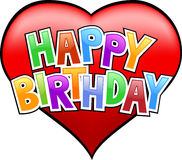 lyckliga födelsedaggrafitti Arkivbilder