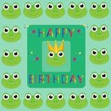 lyckliga födelsedaggrodor Royaltyfria Bilder