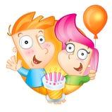 lyckliga födelsedaglyckönskan stock illustrationer