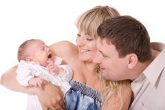 Lyckliga föräldrar Royaltyfri Bild