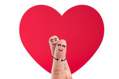 Lyckliga förälskade fingerpar Arkivbild