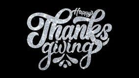 Lyckliga för blinkatext för tacksägelse hälsningar för partiklar för önska, inbjudan, berömbakgrund