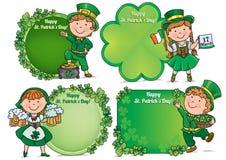 Lyckliga för daghälsning för St. Patricks baner Arkivbilder