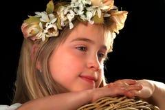 Lyckliga förtjusande små flickor Arkivfoton