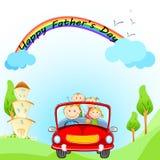 Lyckliga faders dag Arkivbild