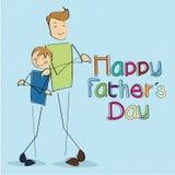Lyckliga faders dag Arkivfoton