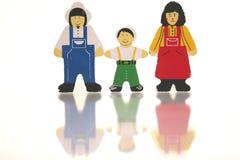 lyckliga familjer royaltyfri illustrationer