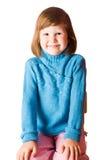 Lyckliga fem år flicka Arkivbild