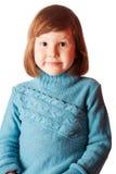 Lyckliga fem år flicka Royaltyfri Bild