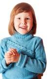 Lyckliga fem år skratta för flicka Royaltyfria Bilder
