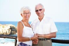 lyckliga feriepensionärer Arkivbild