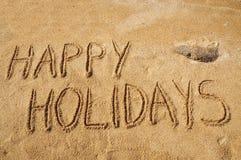 lyckliga ferier Arkivbild