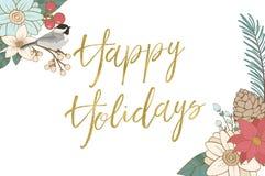 lyckliga ferier stock illustrationer
