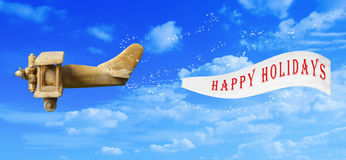 lyckliga ferier för baner Royaltyfri Bild