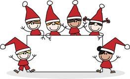 Lyckliga ferier för glad jul Arkivbilder