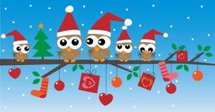 Lyckliga ferier för glad jul Arkivfoto