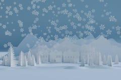 Lyckliga ferier för vinter vektor illustrationer