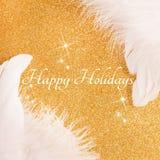 lyckliga ferier för kort Fotografering för Bildbyråer