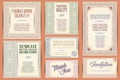 lyckliga ferier Ställ in för att skapa reklambladet, rengöringsduk och inbjudningar eller Royaltyfri Foto