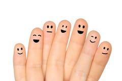 lyckliga fingrar Arkivfoton
