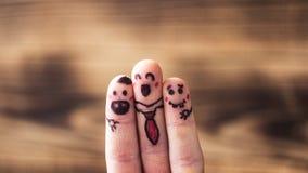 Lyckliga fingrar för kommersiellt bruk Royaltyfri Bild