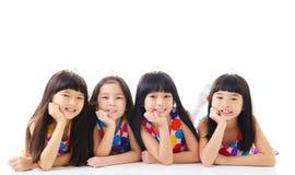 lyckliga flickor Arkivbild
