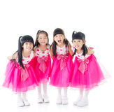 lyckliga flickor royaltyfria foton